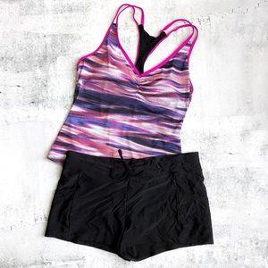Go by Gossip | Speed Racer Tankini & Swim Shorts L